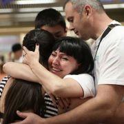 Glad velkomst i Israel for de ukrainske jødene. Foto: Ezra