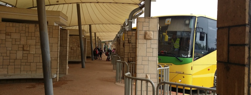 Bussholdeplassen for skolebarna i Shaar Hanegev. Foto: Øyvind Bernatek.