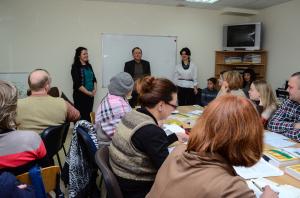 11 ulpan-grupper lærer hebraisk i Dnepropretrovsk for tiden. Klasserommene er fulle. Foto: Jewish Agency