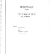 Hjelp Jødene Hjem Årsrapport, årsregnskap for 2000.