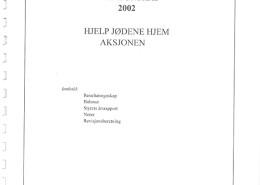 Hjelp Jødene Hjem Årsrapport, årsregnskap for 2002.