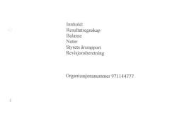 Årsrapport og årsregnskap for 2009